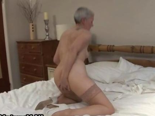 Dirty granny with a dripping wet pussy