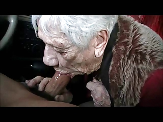 GRANNY MARG CAR WASH COCKSUCKING