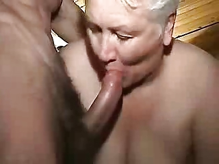 Cumming in mouth of my old maid. Amateur older