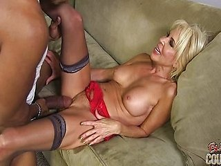 Erica Lauren - Cougar fucked by two blacks