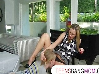 MILF teacher Tanya Tate 3some with teens