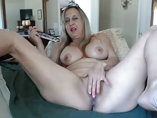 Hot granny with dildo
