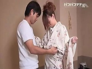 Japanese natural big boobs milf wife