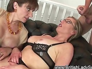 Spex mature british milf gets facial