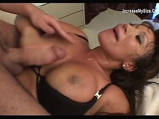 Busty Asian predator gets well stretched legs