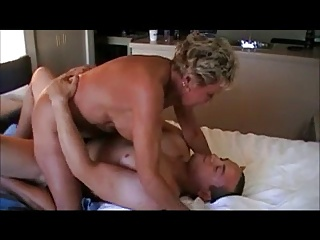 Horny Granny Riding Cock