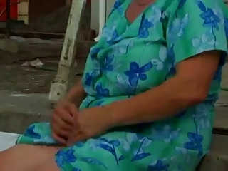 hairy granny with big boobs fucked on a scale