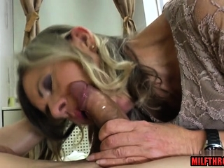 Hairy pussy milf oral with cum on ass
