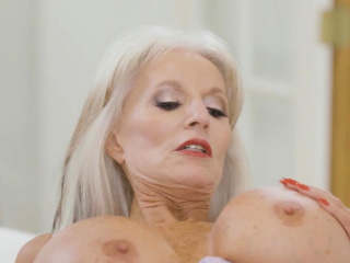 Jake fucking an oldie woman with huge titties Sally D'Angelo