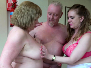 Aged Love Lily and Trisha in threesome