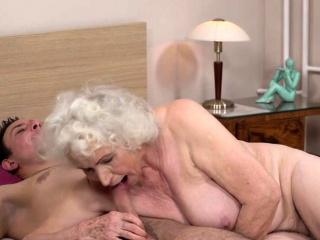 Gray haired grandma craving for hard cock