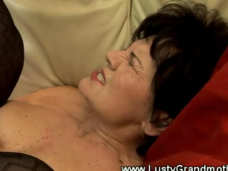 Mature hairy granny in lingerie fucked and loves it