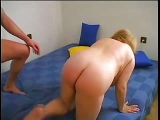 chubby granny sucks and fucks  young man