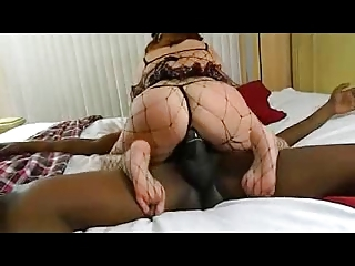 Granny redhead fucking with young black