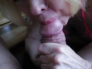 Nice Granny sucking cock